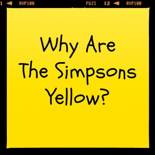 Why are The Simpsons yellow?