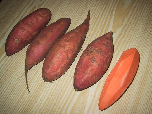 Sweet potatoes have high calories but are rich in nutrients and minerals
