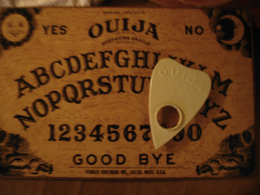 The ouija board not a game.  Horrible things has happened to people that has messed with one.