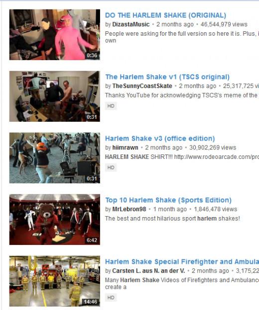 Thousands of Harlem Shake Videos