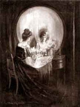 All is Vanity - Is this a skull or a woman making herself beautiful? I was always attracted to the undertones of this piece.