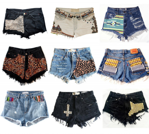 Examples studded/patchwork styles.