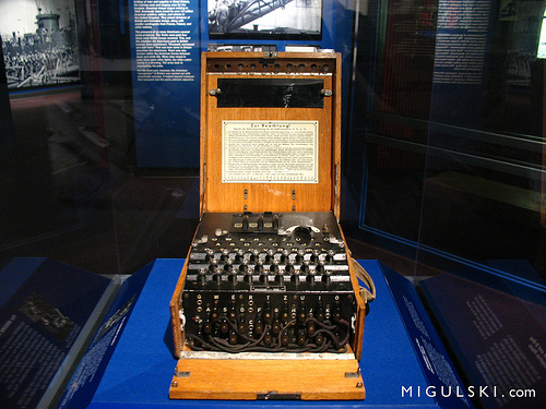 The infamous Enigma machine.