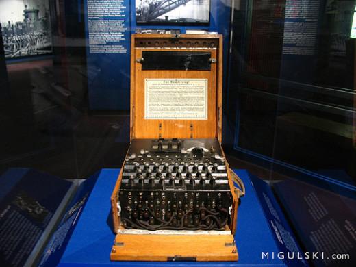The infamous Enigma machine.