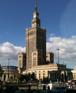 "Stalin's ""gift"" to the people of Poland, the Palace of Culture and Science."