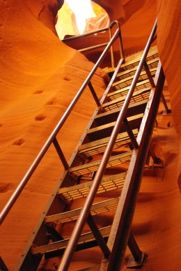 There a lot of these - and, after you climb down, you have to climb back out!