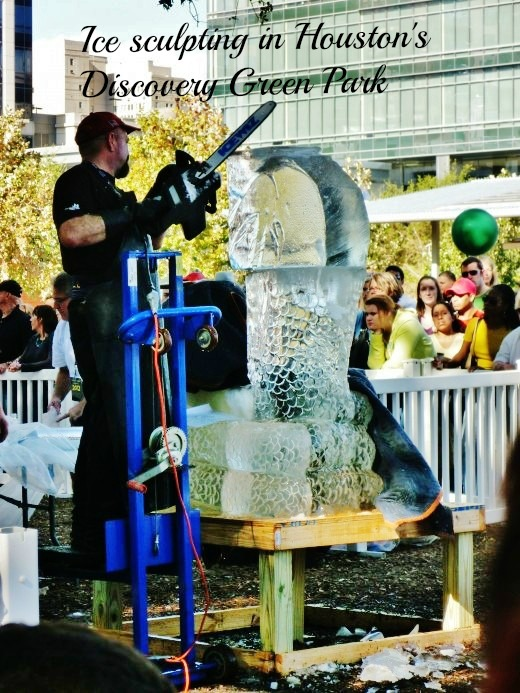 See photos of the 4th annual ice sculpting competition at Discovery Green Park by one dozen ice-sculpture artists.