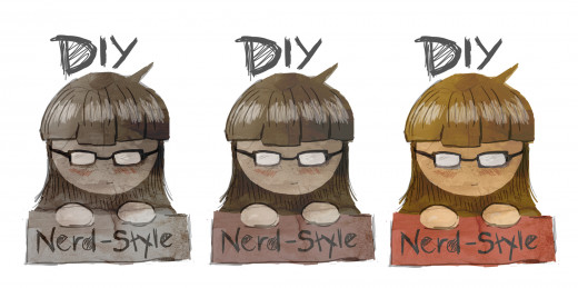 Color Variations of Logo for DIY Nerd-Style