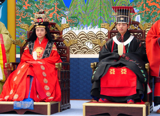 Traditional Korean Royal Wedding Dress