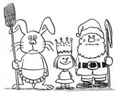 Is it okay to tell children there is Santa Claus, the Tooth Fairy, and the Easter Bunny?