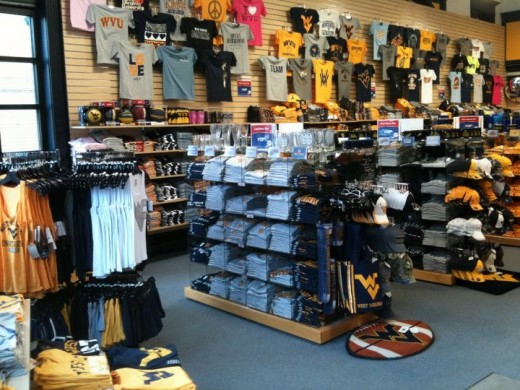 One of the many team stores in the college communities around the country.