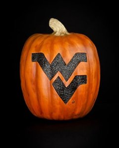 One of my favorite pieces of Mountaineer merchandise is my Halloween pumpkin. I put it out every year.