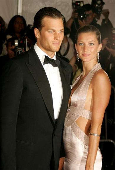 Tom Brady and his model wife, Gisele. The couple is featured regularly in tabloid magazines.