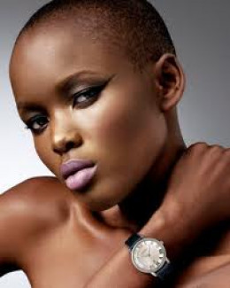 Darker skinned Black model with non-Eurocentric but Africoid features are seldom used in mainstream magazine and in advertisements of beauty products.They are believed by this society to be less attractive than their Europid appearing counterparts.