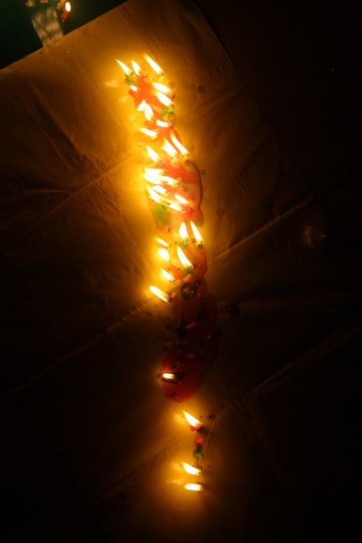 The molten candles! :(