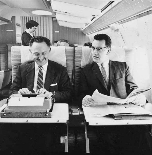I guess I'm not the first businessman to work on an airplane!
