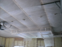 Dense pack cellulose insulation for sound attenuation and thermal insulation.