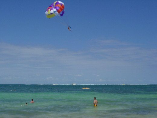 Parasailing is one thrilling activity that is available on the lake right off the Cedar Point beach.