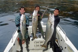 3 fisherman with their catch