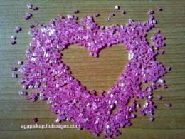 pink glass beads