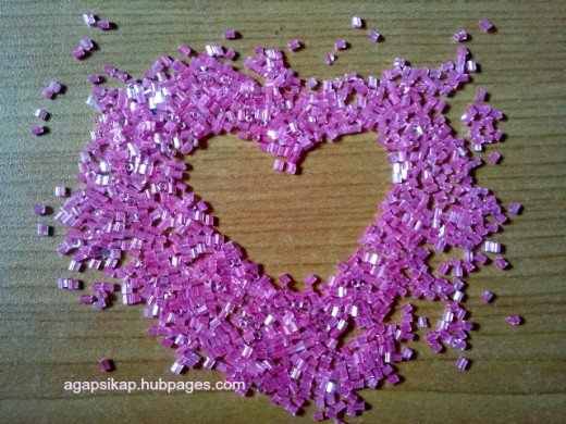 pink glass beads