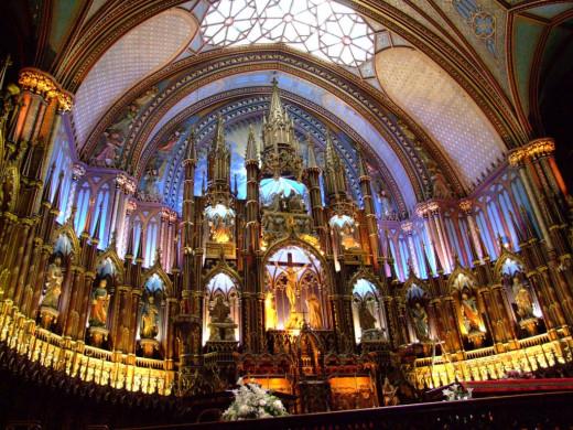 Inside Notre Dame Cathedral