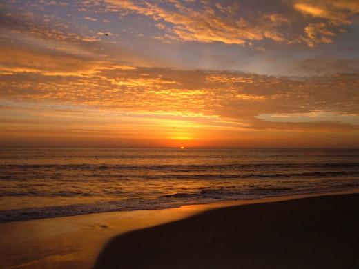 A beautiful sunrise in Virginia Beach.