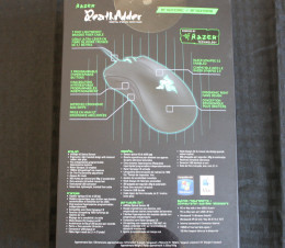 Back of the Razer DeathAdder 2013 Gaming Mouse Box.
