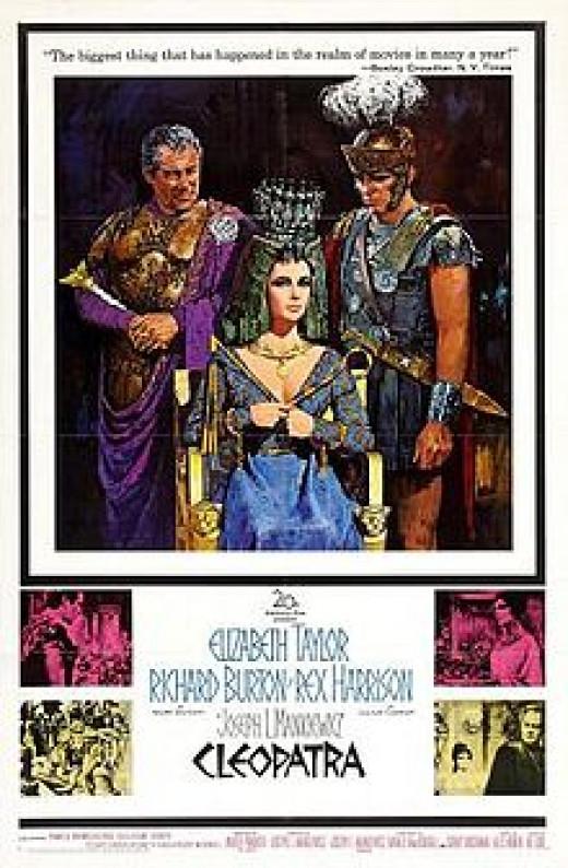 Film poster - Elizabeth Taylor, Richard Burton, Rex Harrison  - Antony and Cleopatra