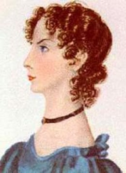Anne Bronte as Painted by Charlotte Bronte in 1834