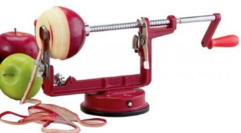 An old style apple peeler