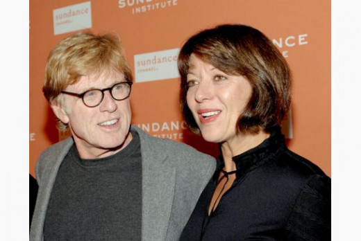 Robert Redford with his present wife, Sibylle Szaggars, a German artist.  They were married in 2009.