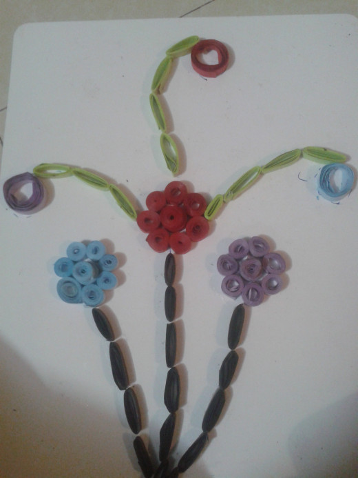 A quilling art
