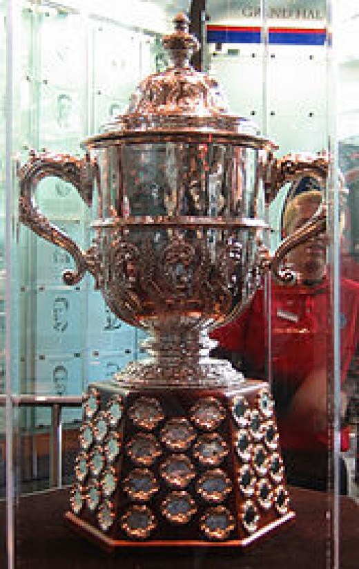 The underrated albeit extremely cool Clarence S. Campbell Trophy, awarded to the winner of hockey's Western Conference