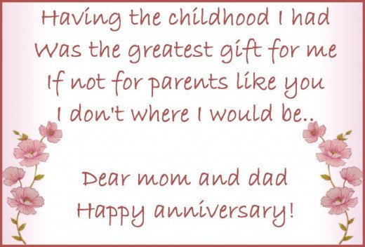 Anniversary wishes quotes and poems for parents
