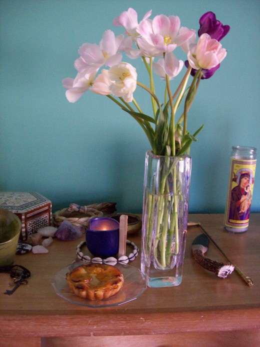Ancestor altars can be as simple or as elaborate as you'd like to make them.