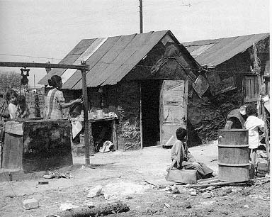 Similar living quarters during the Great American Depression.