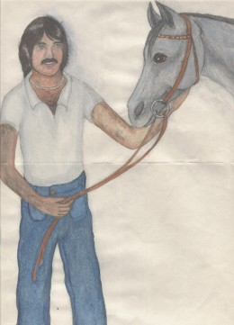 Imaginary man with imaginary horse: Matthew and Mirin