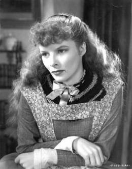 "Katharine Hepburn in the role of Jo, the tomboy heroine in Louisa May Alcott's ""Little Women"""