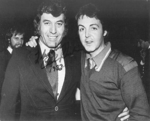(Autographed)  Carl Perkins & Paul McCartney