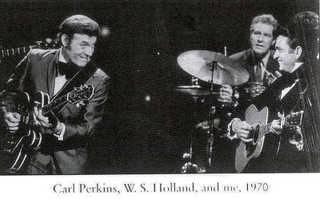 Carl Perkins, W.S. Holland Johnny Cash, 1970