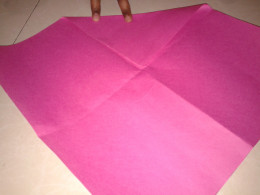 Fold the corner of a square shape to the center