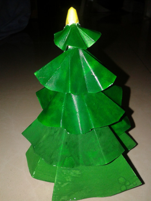 Piercing the entire papers that make up the tree