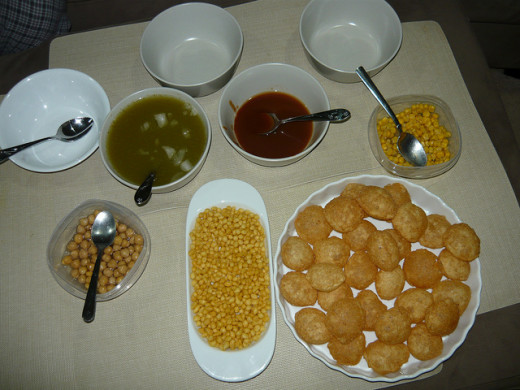 Pani puri ( Street food)