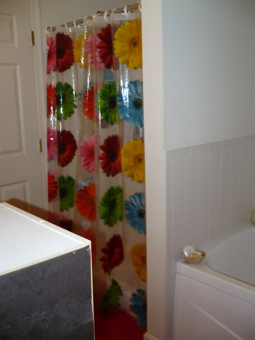 Walmart Bathroom Shower Curtains: Walmart Store Bathroom Makeover