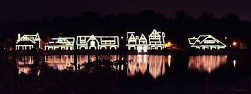 Boathouse Row at night