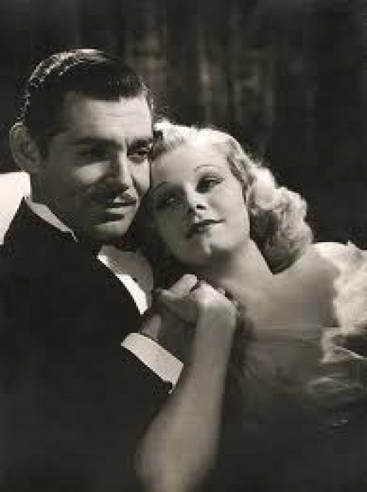 Clark Gable and Jean
