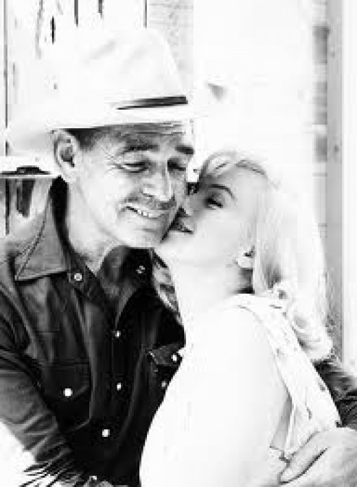 Clark Gable and Marilyn