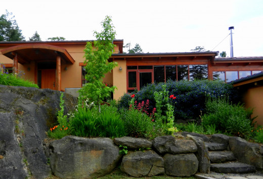 Just one small part of the gardens I designed and planted on our BC gulf island home.