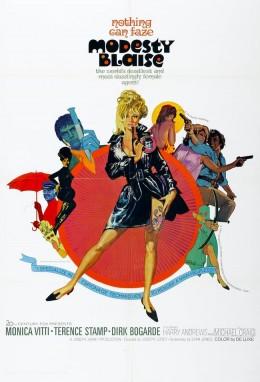 Modesty Blaise (1966) poster art by Bob Peak
